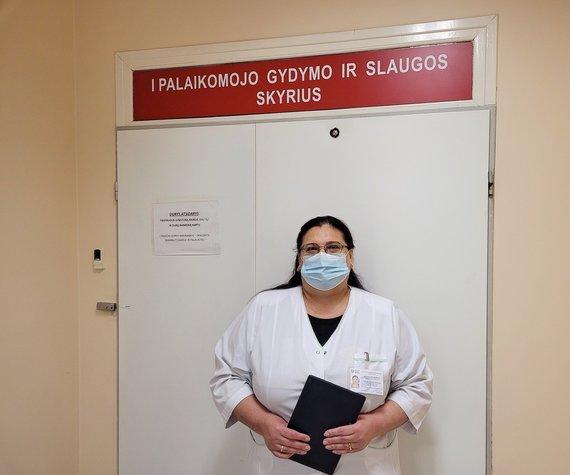 LSMU Kauno ligoninės nuotr./LSMU Kauno ligoninės socialinė darbuotoja Tatjana Šabak-Spaskaja