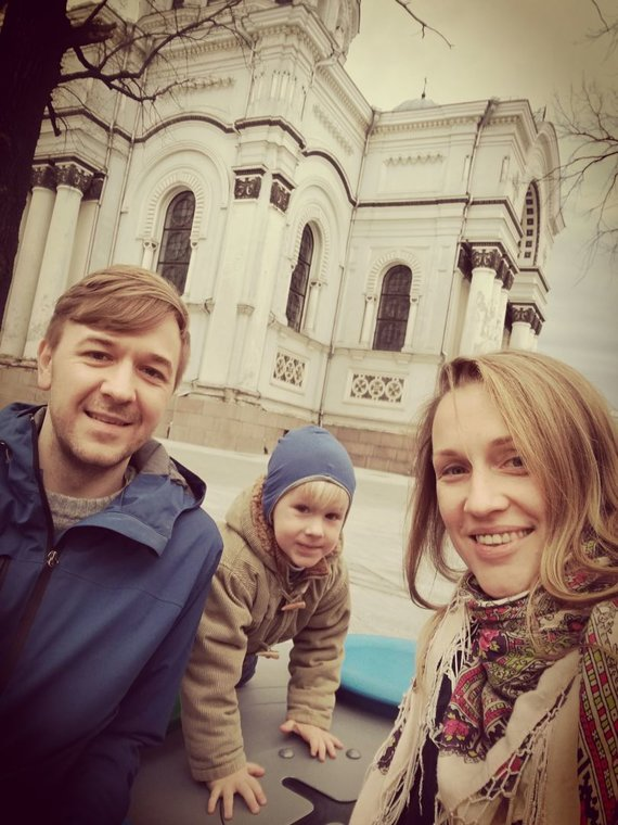 Asmeninio archyvo nuotr./Marius Žičius su šeima
