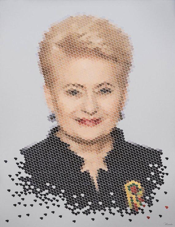 Asmeninio archyvo nuotr. /A.Mažuolės sukurtas prezidentės Dalios Grybauskaitės portretas