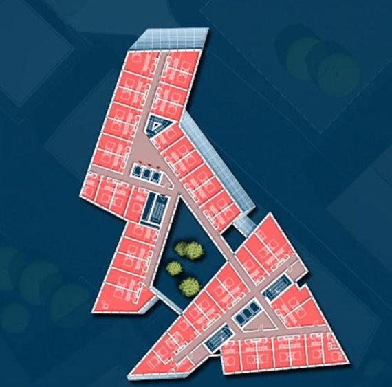 """""""Studio Libeskind"""" projekto viešbučio planas"""