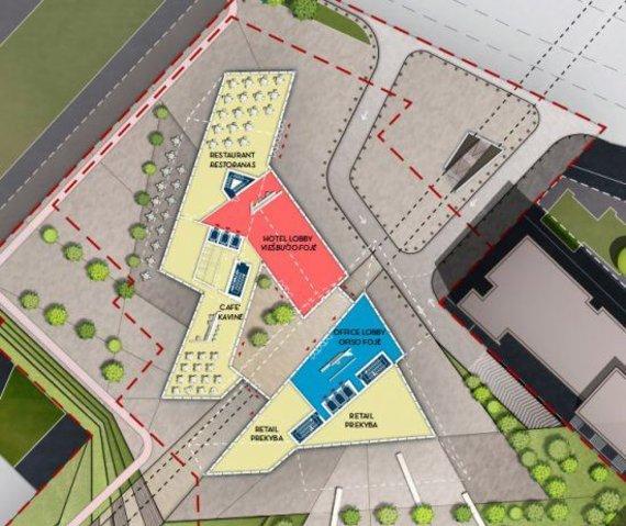 """""""Studio Libeskind"""" projekto pirmo aukšto planas"""