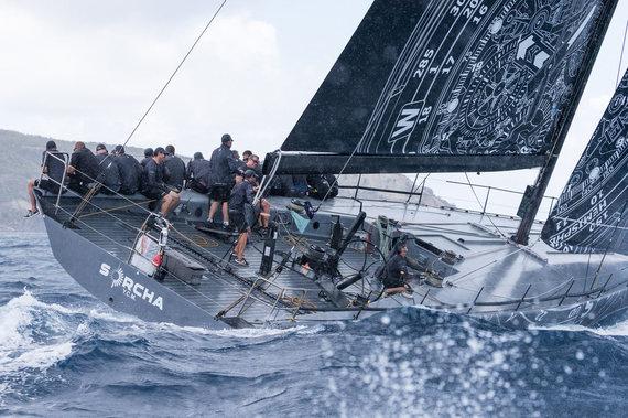 """Christophe Jouany nuotr./""""Sorcha"""" jachta – """"Ambersail 2"""" konkurentai, pirmą dieną """"Les Voiles de St. Barth"""" regatoje užėmę pirmąją vietą"""