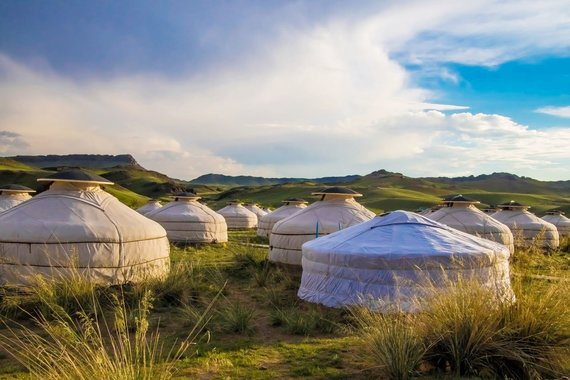 """Kelionių organizatoriaus """"GRŪDA"""" nuotr./Jurtų stovyklavietė, Mongolija"""