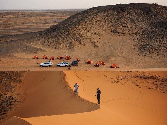 """Kelionių organizatoriaus """"GRŪDA"""" nuotr./Stovyklavietė, Sudanas"""