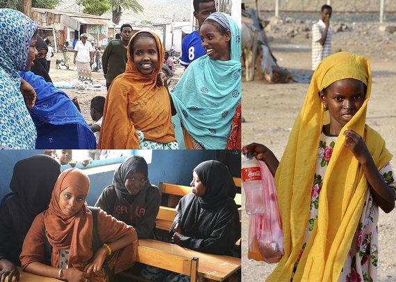 """Kelionių organizatoriaus """"GRŪDA""""/Jaunosios Džibučio gyventojos, Džibutis"""