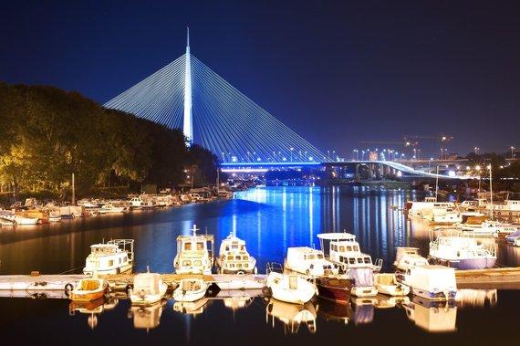 Shutterstock nuotr./Belgrado tiltas, Serbija