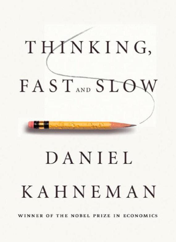 """Danielio Kahnemano knygos """"Mąstymas, greitas ir lėtas"""" viršelis"""