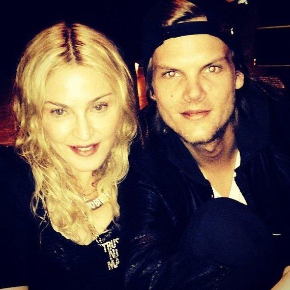 """""""Scanpix"""" nuotr./Madonna ir Avicii"""