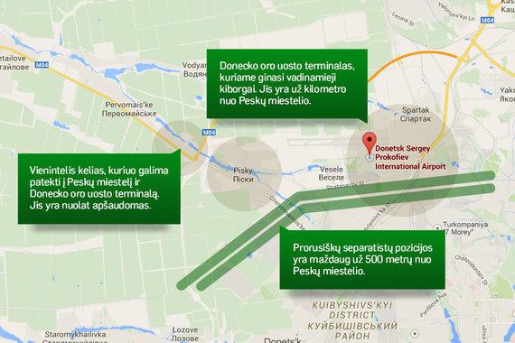 Donecko oro uosto rajonas.