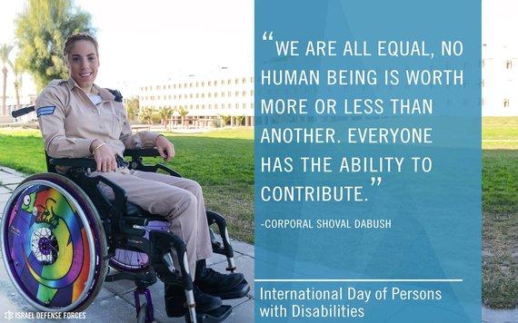 IDF nuotr./Kapralė Shoval Dabush - viena iš daugelio neįgaliųjų, kurie tarnauja IDF.