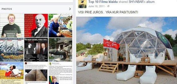 """""""Facebook"""" nuotr./L.Karaliaus nebeveikiančio baro """"Shiva bar"""" reklama propagandiniame puslapyje"""