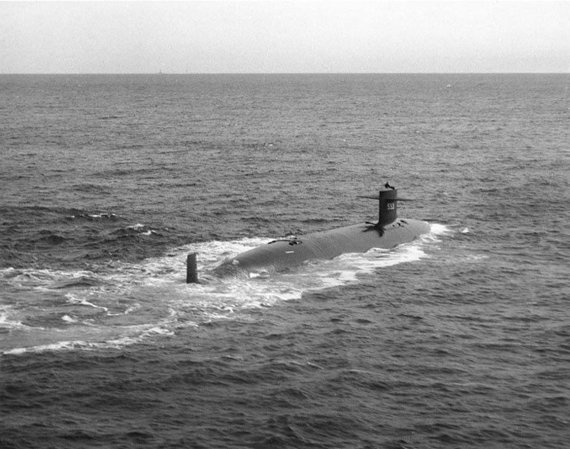 """Wikipedia"" nuotr./JAV povandeninis laivas ""USS Thresher"" (SSN-593)"