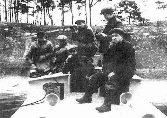 KAM nuotr./Jono Deksnio desantinė grupė Švedijos žvalgų mokykloje 1949 metais