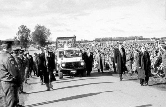 Alfredo Girdziušo nuotr./Popiežiaus Jono Pauliaus II vizito Lietuvoje akimirkos