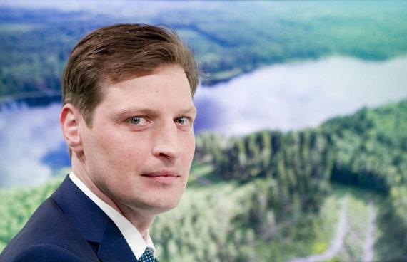 Valdo Kopūsto / 15min nuotr./15min studijoje – paskirtas aplinkos ministras Kęstutis Mažeika
