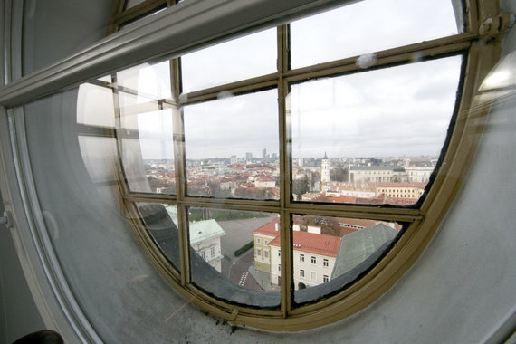 Valdas Kopūstas / 15min photo / Views of the Old Town overlooking the observatory tower window
