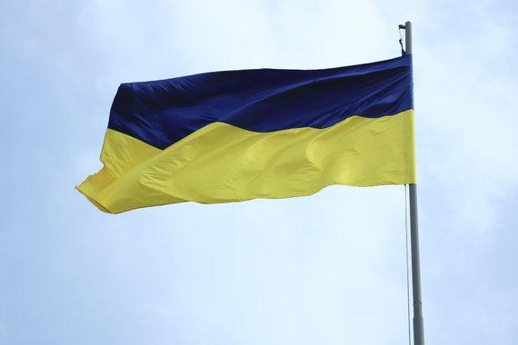 Erlando Abukausko / 15min nuotr./Ukrainos vėliava