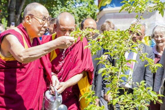 Mato Miežonio / 15min nuotr./Dalai Lama lankėsi Tibeto skvere