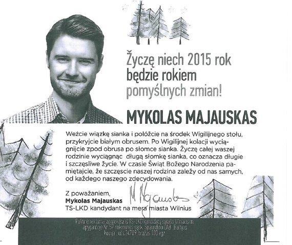 vrk.lt/Kandidato į Vilniaus merus  Mykolo Majausko sveikinimas