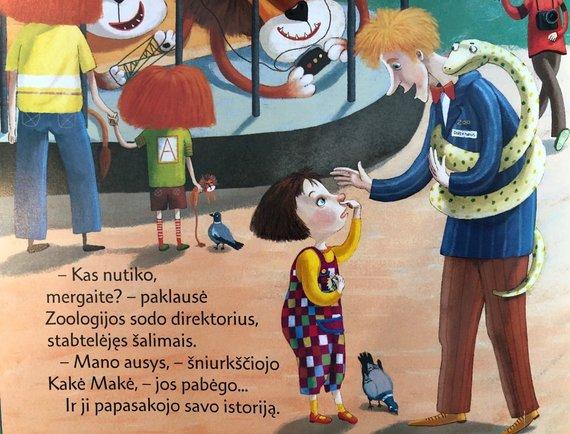 """Linos Žutautės knyga """"Kakė Makė ir pabėgusios ausys"""""""