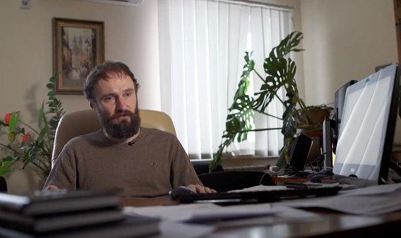 Stopkadras iš Švedijos televizijos SVT interviu su A.Radionovu/Prokuroras Andrijus Radionovas