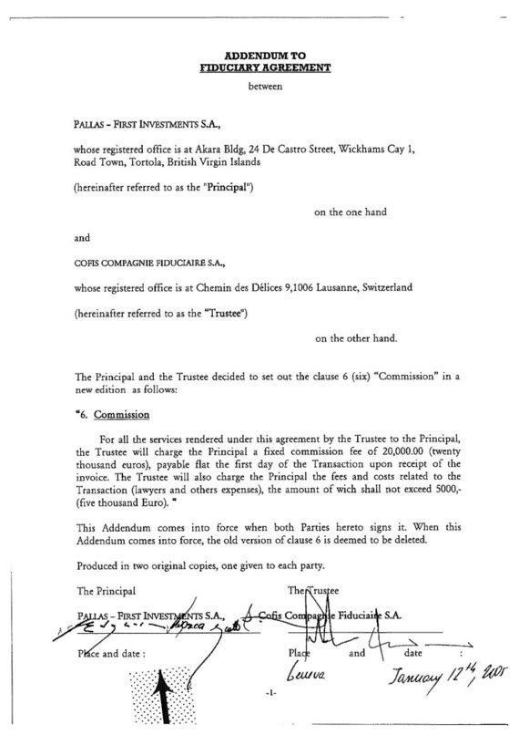 15min nuotr./Įgaliojimo Šveicarijos tarpininkui pakeitimas