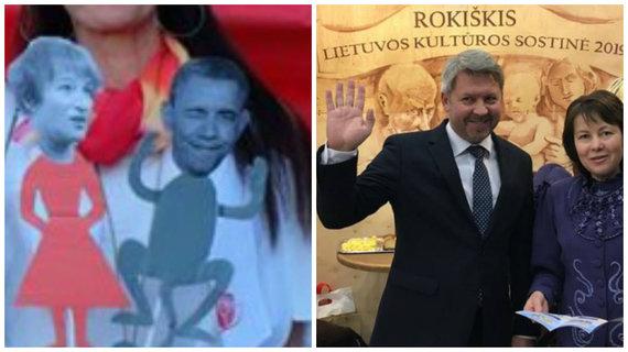 LSDP Rokiškio skyriaus ir Rokiškio savivaldybės nuotr./LSDP Rokiškio skyriaus lėlė – ne Barackas Obama, o Rokiškio meras Antanas Vagonis?