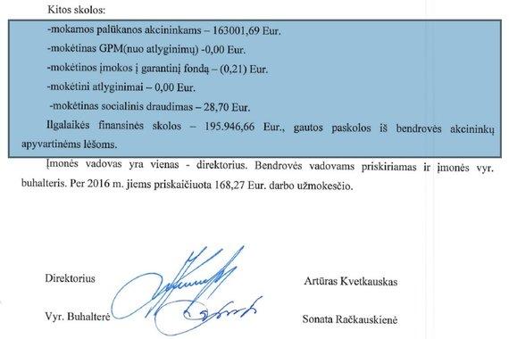 """15min nuotr./UAB """"Želvaičių valda"""" skolos akcininkams – daugiau nei įspūdingos"""