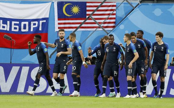 """Scanpix"" nuotr./Pirmasis pusfinalis: Belgija – Prancūzija"