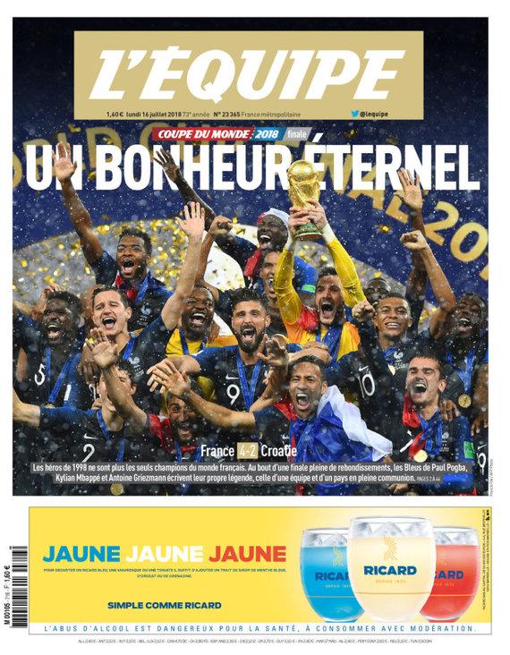 """""""L'Equipe"""" viršelis"""