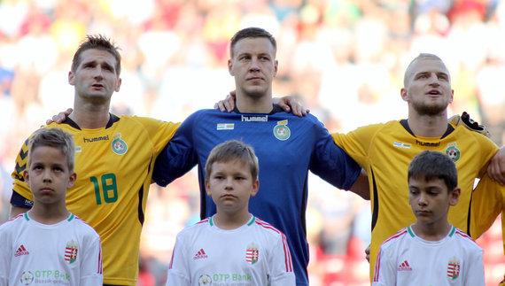 Vaidoto Januškos/LFF nuotr./Futbolas: Vengrija - Lietuva