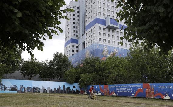 """""""Scanpix"""" nuotr./Kaliningradas pasitinka pasaulio futbolo pirmenybes"""