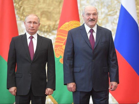 """Scanpix"" nuotr./Vladimiras Putinas susitiko su Aliaksandru Lukašenka"