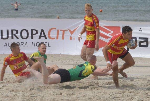 nuotr. organizatorių/Paplūdimio regbis