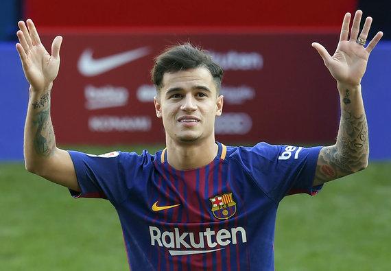 """""""Scanpix"""" nuotr./Pristatytas """"Barcelona"""" komandos naujokas Philippe Coutinho"""