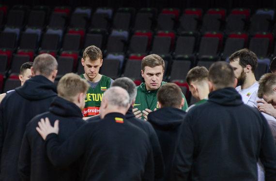 nuotr. Karolis Bakūnas/Lietuvos rinktinės treniruotė prieš rungtynes su Vengrija