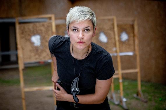 Vidmanto Balkūno / 15min nuotr./Simona Daumantienė pratybų ir treniruočių metu