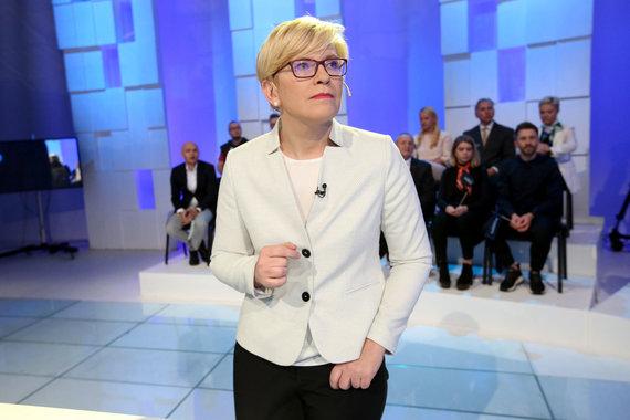 Vidmanto Balkūno / 15min nuotr./LRT debatai. Ingrida Šimonytė.