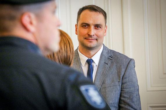 Vidmanto Balkūno / 15min nuotr./Lietuvoje teisiamas Rusijos FSB pareigūnas Nikolajus Filipčenko