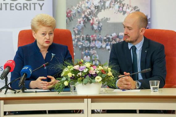 Vidmanto Balkūno / 15min nuotr./ Dalia Grybauskaitė ir Sergejus Muravjovas