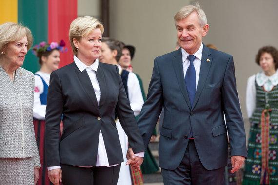 Vidmanto Balkūno / 15min nuotr./Viktoras Pranckietis ir jo žmona Irena Pranckietienė