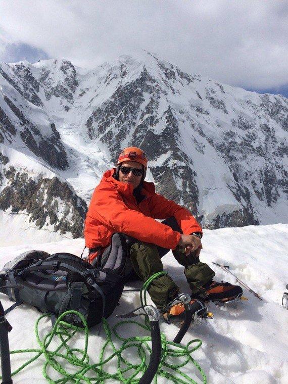 Аndrejaus Evdokimovo nuotr. /Alpinistas Saulius Saikauskas