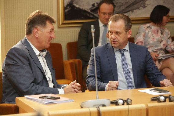 Vidmanto Balkūno / 15min nuotr./Audrius Butkevičius ir Artūras Skardžius
