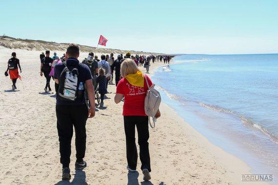 """Projekto partnerio nuotr./Tarptautinis pėsčiųjų žygis """"Coastline Trek"""""""
