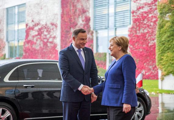 "AFP/""Scanpix"" nuotr./Andrzejus Duda ir Angela Merkel"