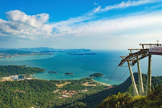 Shutterstock nuotr./Panoraminis Langkavo vaizdas, Malaizija