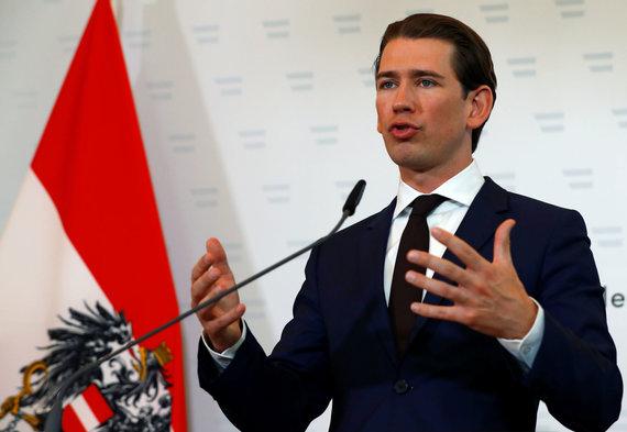 """Reuters""/""Scanpix"" nuotr./Austrijos kancleris Sebastianas Kurzas"
