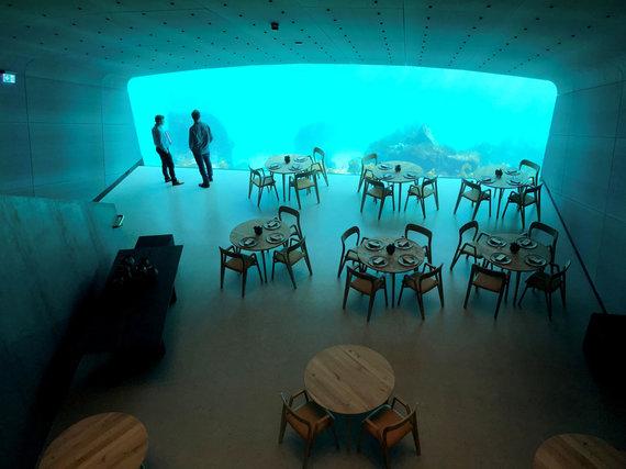 """""""Reuters""""/""""Scanpix"""" nuotr./Restoranas po vandeniu Norvegijoje"""