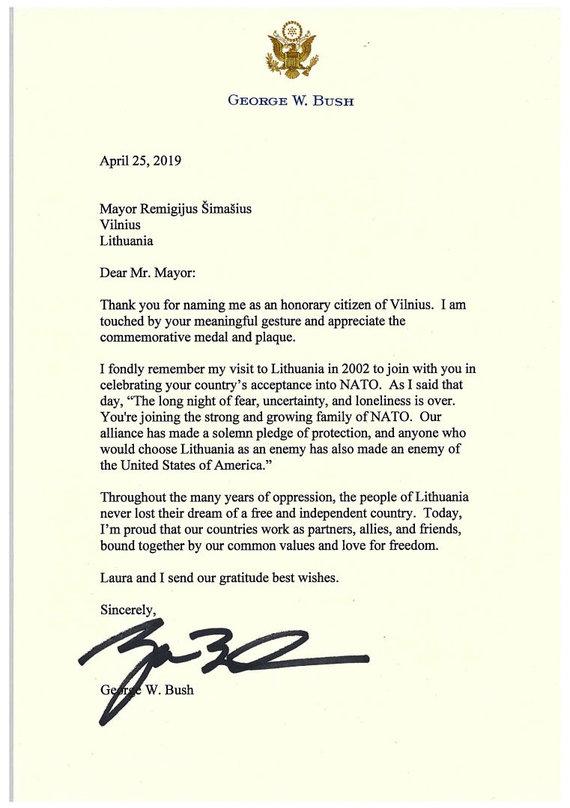 G.W.Busho laiškas