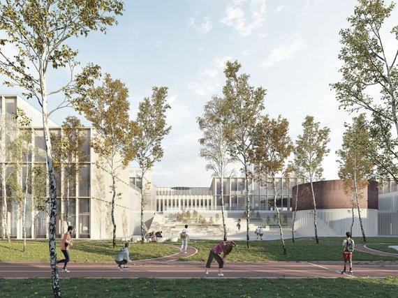 Vilniaus miesto savivaldybės nuotr./Architektų pasiūlyti Pilaitės mokyklos projektai